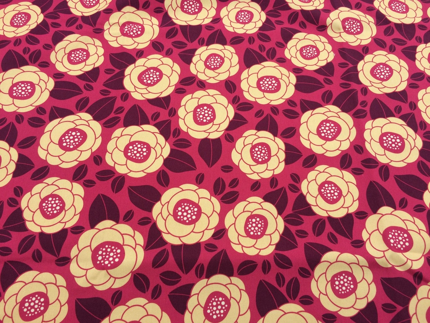 Joel dewberry bloom raspberry hdjd02 100 cotton sateen for Decor 55 fabric