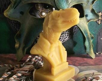 Victorian T Rex Dinosaur Bust Beeswax Candle Tyrannosaurus Rex