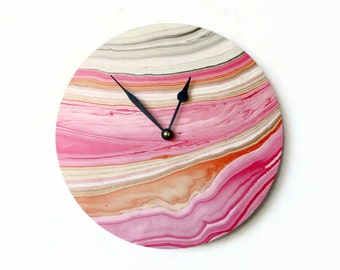 Modern Wall Clock, Trending Marble Home Decor,  Decor and Housewares, Home and Living, Unique Clock,  Home Decor