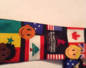 st jude children's research hospital vintage tie