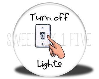 Turn off Lights - Chore Magnet