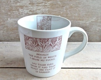 Medieval Tapestry Parody Mug, Garden of F*cks, Tudor, Middle Ages, Dark Ages, Coffee Cup, Mature Humor, 17 oz, Ready to Ship