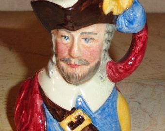 Handmade In ENGLAND British Miniature Figural Mini KING CHARLES 4466 Character Mug Toby Jug Collection