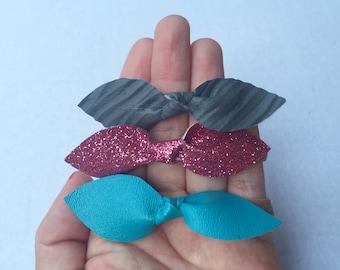 Set of 3 Knot Bows Headbands. Nylon Headbands.