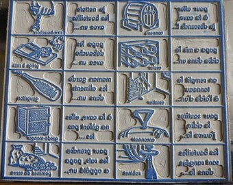 Vintage School Rubber Stamp, French Old School, Scrapbooking, French Language, Circa 1950's 1960's