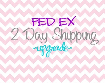 SHIPPING UPGRADE - Fed Ex 2 Day Guaranteed Shipping Upgrade - Get Your Item in 2 days - Add to any purchase - US Only