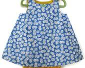 Daisy sundress- toddler jumper- baby dress- sundress baby- daisy dress- baby floral dress- custom baby girl dress- a line dress- custom made