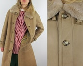 SALE %WESTBURY exclusive to C&A Vtg Napa Shearling Luxurious Coat