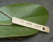 As You Wish Bar necklace in Sterling Silver