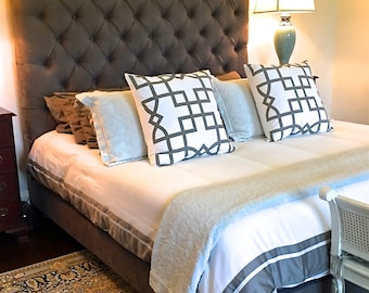 velvet diamond tufted headboard and upholstered bed frame set king size extra tall