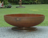 Fire Pit 42 inch Pedestal Base - Industrial - Durable Fire Pit - Heavy Gauge Metal Fire Pits Atlanta