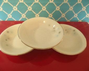 Atomic Star Berry Bowls Set Of 3 Princess China Star Shower Tru Tone Empcraft Vintage 1960s