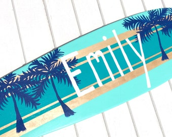 Personalized Beach Themed Surfboard Sign for your Girls Bedroom Decor - Large 36 inch