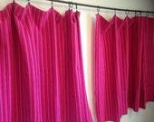 Vintage Curtains, Vintage Pink Curtains, Vintage Striped Curtains, Vintage Weave Curtains, Bohemian Curtains, Boho Fabric