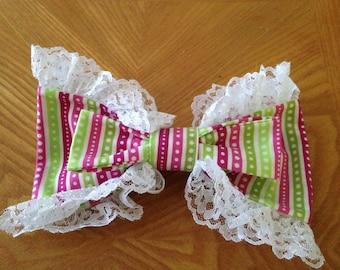 Striped sweet lolita bow