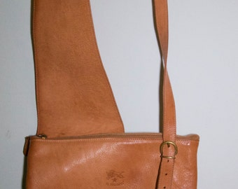 Authentic Il Bisonte Leather Cross Body Bag