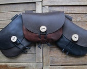 Medieval Leather Pouch, Renaissance Bag - Choose Your Color - THE TRAVELER