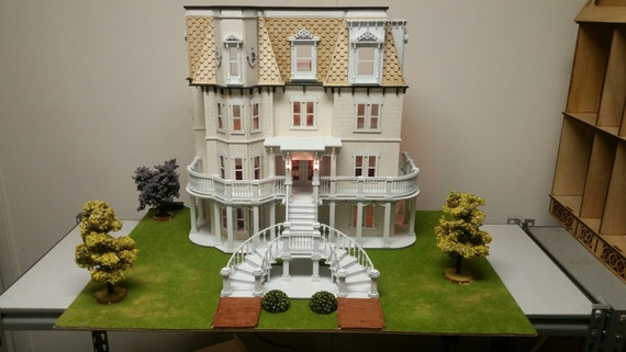 Half Inch Scale, Wooden Dollhouse Kit, The Phillips' Estate, 1:24 Scale, SHIPS WORLDWIDE