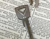 Vintage Ford car key - car key pendant charm - vintage auto key - automotive key - antique ford - classic car key - old car key - 50's key