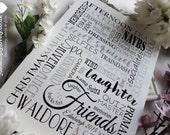 Personalised A4 Word Print