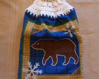 Hanging Dish Towel, Hanging Kitchen Towel, Crochet Top Towel, Christmas Hanging Dish Towel, Housewarming Gift, Home Decor, Holiday Decor