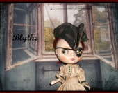 RESERVED for DOMINIQUE ~ Blythe ~ Pirate Hat, Eye Patch ~ Vintage Inspired  by KarynRuby