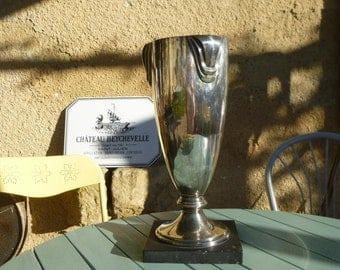 Vintage French Trophy Award Cup Coupe Mid Century Modern Ideal for Display or as a Flower Vase
