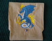 Dragon Embroidered Belt Pouch