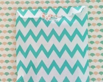 20 bags in chevron green-aqua color