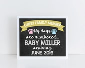 Pregnancy Announcement sign, pregnancy chalkboard sign for pets, photo prop