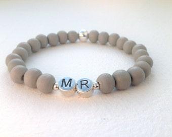 Wedding bracelet with initials