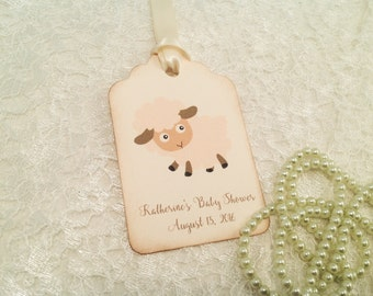 Lamb favor tags-Sheep thank you tags-Ewe-Animal theme tags-set of 12