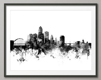 Des Moines Iowa Skyline, Art Print (2423)