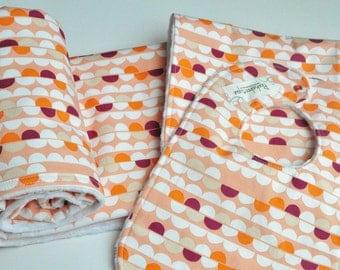 Baby Girl Blanket, Baby Blanket,  Minky blanket, Blanket gift set, Coral Baby Blanket