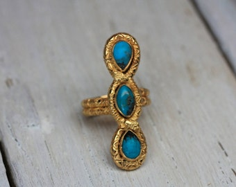 Gold Duality Rattlesnake Ring