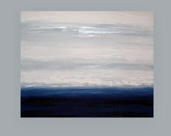 "Art, Large Painting, Original Abstract, Acrylic Paintings on Canvas by Ora Birenbaum Titled: Midnight Blue 5 24x30x1.5"""