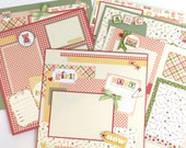 Baby Girl Scrapbook Page Kit or Premade Pre-Cut with Instructions Six Pages