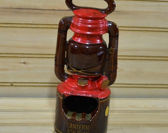 Vintage Japan Redware Lantern Ashtray Clay Pottery Red  Collectible Tobacciana