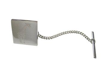 Engraved Giraffe Tie Tack