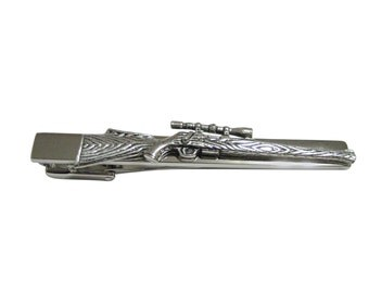 Sniper Rifle Square Tie Clip