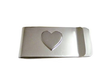 Silver Toned Heart Money Clip