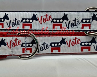 Democratic Party Vote Dog Collar Democratic Dog Collar