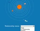 pluto it's complicated relationship status funny humor... digital download jpeg