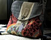 The Smilla Handbag, Suede Leather Sunset Handbag, Travel Handbag, Colorful handbag, Bungalow Chic, Made by Rolina SImple fly Chic