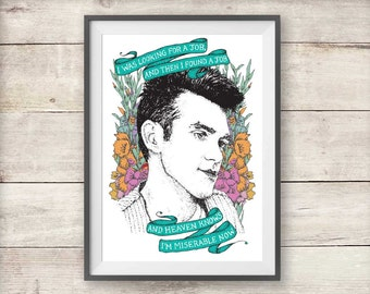 Heaven Knows I'm Miserable Now - Morrissey - Print