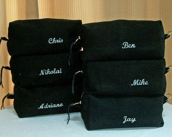Dopp Kit, Toiletry bag, Monogram, Personalized,  Denim / Canvas Dopp Bag