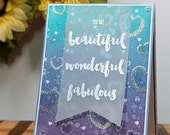 Friendship Greeting Card, Honey Bee Stamps, You Are Beautiful Greeting Card, You Are Wonderful Greeting Card, You Are Fabulous Greeting Card