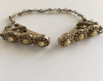 Vintage Pearl Sweater Clasp