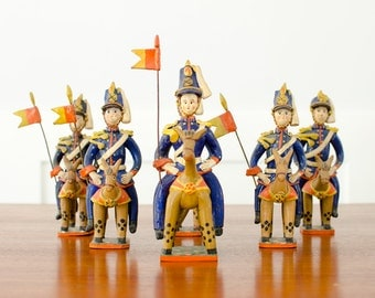 Vintage Clay Folk Art Portuguese Soldier Toy Figurine Olaria Alfacinha Estremoz - Portugal