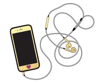 items similar to summer sale lunastrella headphones print
